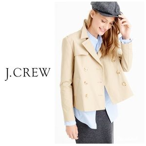 J Crew Japanese Poplin Swing Trench Coat 🧥 6T